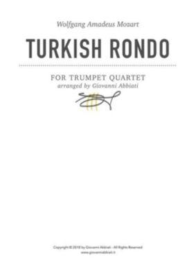 Wolfgang Amadeus Mozart Turkish Rondo for trumpet quartet, Giovanni Abbiati