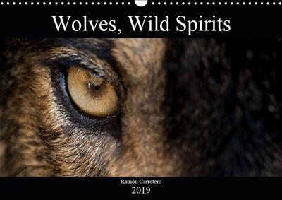 Wolves, Wild Spirits (Wall Calendar 2019 DIN A3 Landscape), Ramon Carretero