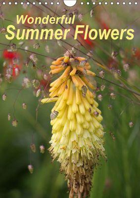 Wonderful Summer Flowers (Wall Calendar 2019 DIN A4 Portrait), Gisela Kruse