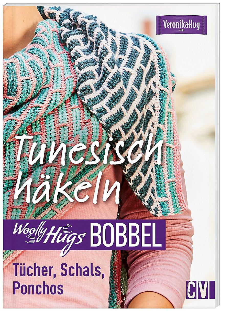 Woolly Hugs Bobbel Tunesisch Häkeln Tücher Schals Ponchos
