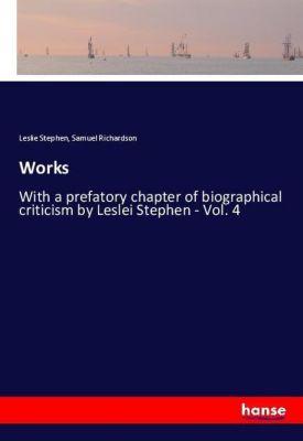 Works, Leslie Stephen, Samuel Richardson