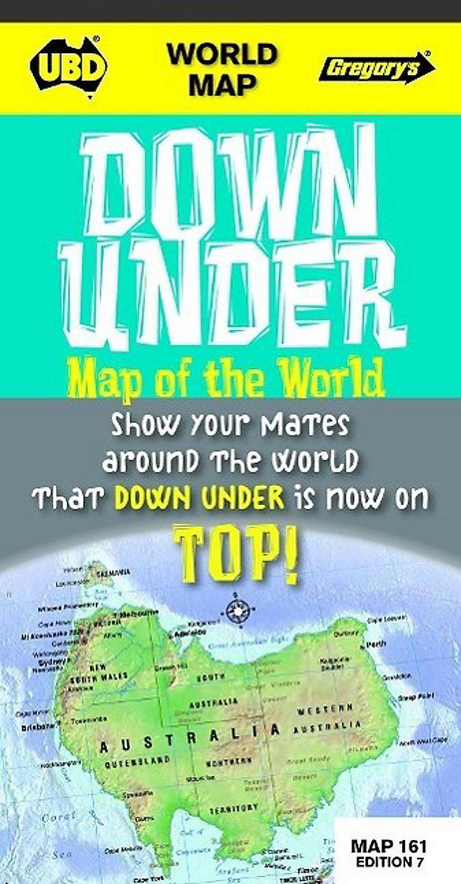 World Down Under map of the world - upside down Buch - Weltbild.ch