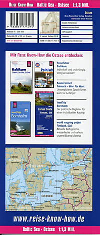 World Mapping Project Reise Know-How Landkarte Ostsee; Baltic Sea; Mer baltique; Mar báltico - Produktdetailbild 1