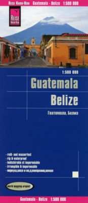World Mapping Project Reise Know-How Landkarte Guatemala, Belize, Peter Rump Verlag