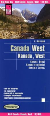 World Mapping Project Reise Know-How Landkarte Kanada West (1:1.900.000); West Canada / Canada ouest / Canadá occidental