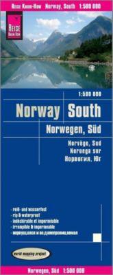 World Mapping Project Reise Know-How Landkarte Norwegen Süd (1:500.000); Southern Norway / Norvège sud / Noruega sur
