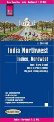 World Mapping Project Reise Know-How Landkarte Indien, Nordwest (1:1.300.000); Northwest India / Inde, nord-ouest / Indi