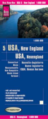 World Mapping Project Reise Know-How Landkarte USA, Neuengland / USA, New England, Reise Know-How Verlag Peter Rump