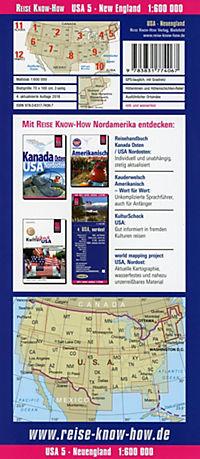 World Mapping Project Reise Know-How Landkarte USA, Neuengland / USA, New England - Produktdetailbild 1