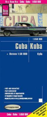World Mapping Projekt Reise Know-How Landkarte Cuba (1:650.000) mit Havanna (1:50.000)