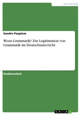 Wozu Grammatik? Zur Legitimation von Grammatik im Deutschunterricht, Sandro Paeplow