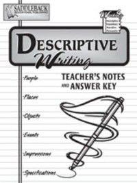 Writing 4: Descriptive Teacher Notes