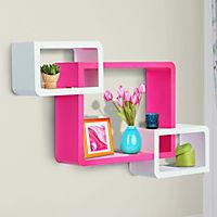 Würfelregal mit 3 Fächern (Farbe: rosa, weiß) - Produktdetailbild 1