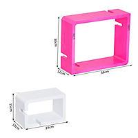 Würfelregal mit 3 Fächern (Farbe: rosa, weiß) - Produktdetailbild 5