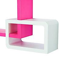 Würfelregal mit 3 Fächern (Farbe: rosa, weiß) - Produktdetailbild 6