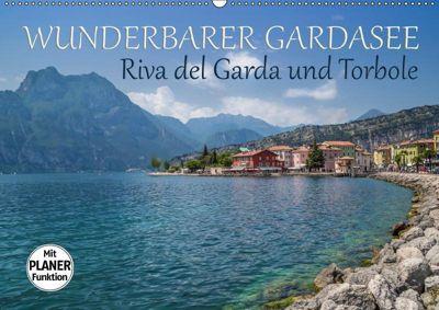 WUNDERBARER GARDASEE Riva del Garda und Torbole (Wandkalender 2019 DIN A2 quer), Melanie Viola