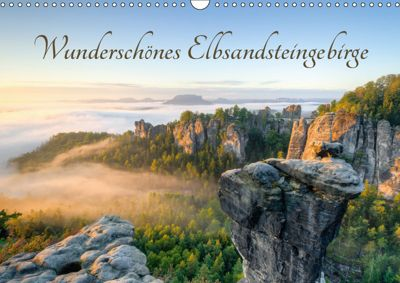 Wunderschönes Elbsandsteingebirge (Wandkalender 2019 DIN A3 quer), Michael Valjak