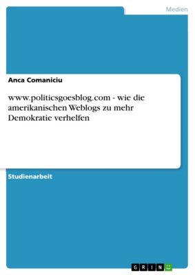 www.politicsgoesblog.com - wie die amerikanischen Weblogs zu mehr Demokratie verhelfen, Anca Comaniciu