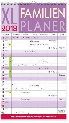 XL Familienplaner 2018