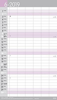XL Familienplaner Pastell 2019 - Produktdetailbild 6