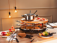 XXL Raclette- und Fondueset, Kupfer - Produktdetailbild 1