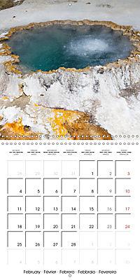 Yellowstone - Geysers and hot springs (Wall Calendar 2019 300 × 300 mm Square) - Produktdetailbild 2