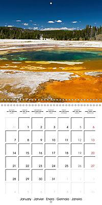 Yellowstone - Geysers and hot springs (Wall Calendar 2019 300 × 300 mm Square) - Produktdetailbild 1