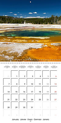 Yellowstone - Geysers and hot springs (Wall Calendar 2019 300 × 300 mm Square) - Produktdetailbild 1