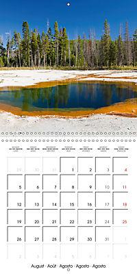 Yellowstone - Geysers and hot springs (Wall Calendar 2019 300 × 300 mm Square) - Produktdetailbild 8