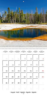 Yellowstone - Geysers and hot springs (Wall Calendar 2019 300 × 300 mm Square) - Produktdetailbild 8