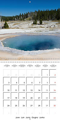 Yellowstone - Geysers and hot springs (Wall Calendar 2019 300 × 300 mm Square) - Produktdetailbild 6