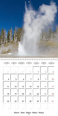 Yellowstone - Geysers and hot springs (Wall Calendar 2019 300 × 300 mm Square) - Produktdetailbild 3