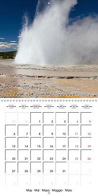 Yellowstone - Geysers and hot springs (Wall Calendar 2019 300 × 300 mm Square) - Produktdetailbild 5
