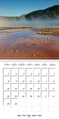 Yellowstone - Geysers and hot springs (Wall Calendar 2019 300 × 300 mm Square) - Produktdetailbild 4
