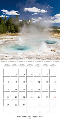 Yellowstone - Geysers and hot springs (Wall Calendar 2019 300 × 300 mm Square) - Produktdetailbild 7