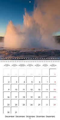 Yellowstone - Geysers and hot springs (Wall Calendar 2019 300 × 300 mm Square) - Produktdetailbild 12