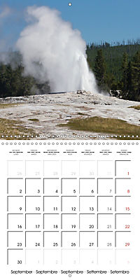 Yellowstone - Geysers and hot springs (Wall Calendar 2019 300 × 300 mm Square) - Produktdetailbild 9
