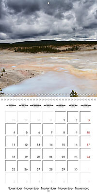 Yellowstone - Geysers and hot springs (Wall Calendar 2019 300 × 300 mm Square) - Produktdetailbild 11