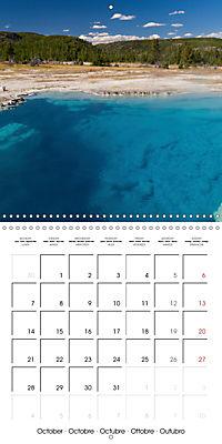Yellowstone - Geysers and hot springs (Wall Calendar 2019 300 × 300 mm Square) - Produktdetailbild 10