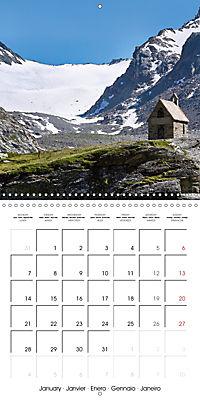 Yoga in the Italian Alps (Wall Calendar 2019 300 × 300 mm Square) - Produktdetailbild 1