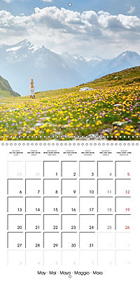Yoga in the Italian Alps (Wall Calendar 2019 300 × 300 mm Square) - Produktdetailbild 5