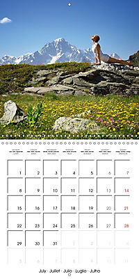 Yoga in the Italian Alps (Wall Calendar 2019 300 × 300 mm Square) - Produktdetailbild 7