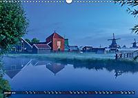 Zaanse Schans - Landschaft und historische Windmühlen (Wandkalender 2019 DIN A3 quer) - Produktdetailbild 1