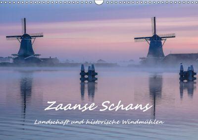 Zaanse Schans - Landschaft und historische Windmühlen (Wandkalender 2019 DIN A3 quer), Bettina Hackstein