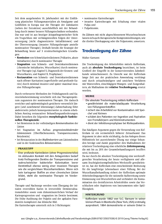 Zahn Mund Kiefer Heilkunde Bd4 Konservierende