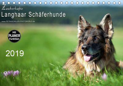 Zauberhafte Langhaar Schäferhunde (Tischkalender 2019 DIN A5 quer), Petra Schiller
