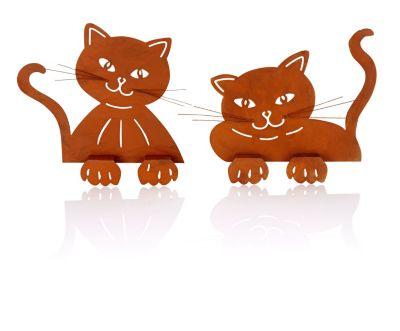 Zaungucker Katze, 2er-Set
