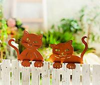 """Zaungucker """"Katze"""", 2er-Set - Produktdetailbild 1"""