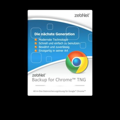 zebNet® Backup for Chrome™ TNG - Small-Business License for up to 3 Computers
