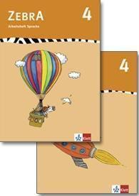 Zebra, Ausgabe ab 2007: 4. Schuljahr, Arbeitsheft Sprache / Arbeitsheft Lesen und Schreiben, 2 Tle.